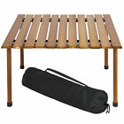 Best Choice Products Wooden Portable Picnic Camping Table With Carrying Case