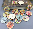 Mix Tree Shape Wooden Sewing buttons scrapbooking craft DIY 30mm