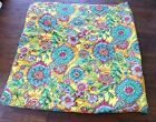 Colorful Yellow Multi Cotton Quilted Bed Spread Fabric Queen Size
