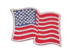 Iron On Patch Applique USA American Flag 2 1 2 x 1 3 4