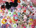 100 Assorted Felt Satin Fabric Applique Mix Bag Embellishment Flower Bow H200