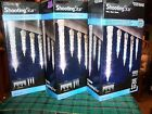 GEMMY LIGHTSHOW LED SHOOTING STAR WHITE ICICLES 10 COUNT LOT OF 3 BOXES   NIB
