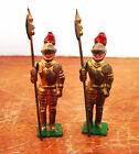 Vintage Hand-Painted Lead British Knights in Armor - NICE