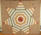 AMAZING Vintage PRE CIVIL WAR 1830's Lone Star Antique Quilt ~VERY EARLY FABRICS