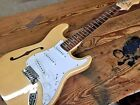 NEW JAPAN THINLINE SEMI HOLLOW STRAT STYLE 6 STRING ELECTRIC GUITAR