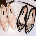 New Womens Casual Ballet Boat Shoes Slip On Flat Loafers Single Butterfly Shoes