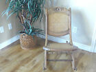 Folding Rocking Chair Nursery vintage Childs Unique Rose Carved Wood Unique Nice