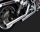 Straightshots HS Slip ons Exhaust Mufflers Chrome 91 14 Harley Dyna 16823