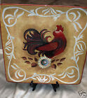 CERTIFIED INTL GEOFFREY ALLEN GOLDEN ROOSTER SQUARE SERVING PLATTER 16 1/8