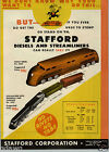 1947 PAPER AD 4 PG Stafford Diesel Streamliner Toy Train Automatic Auto