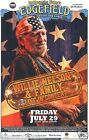WILLIE NELSON 2011 PORTLAND CONCERT TOUR POSTER - Country Music Legend Playing