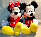 DISNEY PARKS AUTHENTIC NEW W TAGS MICKEY AND MINNIE MOUSE 11 PLUSH BEAN BAG SET