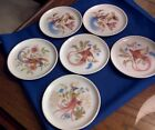 Set of 6 Royal Porzellan Bavaria KPM Germany Handarbeit Bird Coasters