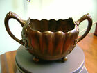 ANTIQUE,VICTORIAN DERBY SILVER CO. FOOTED OPEN SUGAR/ BOWL- QUADRUPLE PLATE
