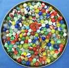 LOT #2 OF 200 VINTAGE GLASS MARBLES AKRO, SWIRLS , ETC. MIXED LOT