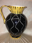 CERTIFIED INTERNATIONAL RAYMOND WAITES GLOBAL PITCHER 160 OZ BLACK WHITE DOTS
