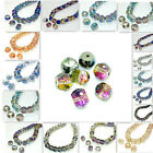 10pcs Faceted Rondelle crystal glass Loose beads 12mm DIY