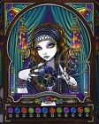 Boho Gypsy Zodiac Signed Print Celestial Astrology Fortune Teller Machine Lumina
