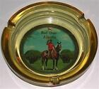 ASHTRAY GLASS AMBER RED DEER ALBERTA MOUNTED POLICE