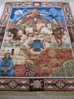 Vintage Native American Indian Print Fabric Panel-Springs Industries-35x46
