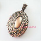 1 New Antiqued Copper Charms Oval Picture Locket Frame Pendants 27x42mm
