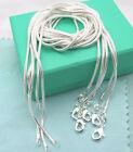 Free Shipping 925 sterling silver 5pcs2mm snake chains 16 24 Necklace C010