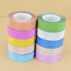 10M Glitter Washi Sticky Paper Masking Adhesive Tape Label DIY Craft Decorative