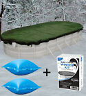 15x30 Oval Above Ground Pool Cover + 2 4x4 Air Pillows + Winterizing Kit