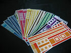 CREATIVE MEMORIES JUMBO GREAT LNGTH STICKERS ORANGE AMBER LOTS OF BLUE AND MORE