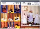 VOGUE 7442 Heirloom Dress Clothes  7329 Doll Shoes PATTERNS 18 American Girl