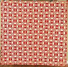 White Baskets Sawtooth Zigzag Antique Quilt!