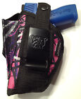 Colt 380 Government  Muddy Girl Gun Holster OWB Pink Purple Camo  Ambidextrous
