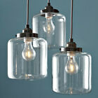 Vintage Bulb Included Pendant Lights Jar Patio Lamp Fixture Hanging Lamp US