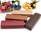 Wood Grain Leather Hard Eyewear Sunglasses Eye Glasses Case Box Travel