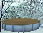 28 Round Above GroundHEAVIESTTan Winter Swimming Pool Solid Cover 25 Yr