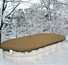 15x30 Oval Above GroundHEAVIESTTan Winter Swimming Pool Solid Cover 25 Yr