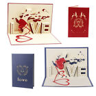 3D Pop Up Cards Love Tree Heart Valentine Lover Happy Birthday Greeting Card