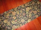 WAVERLY ELLERY FELICITE JACOBEAN BLACK GREEN GOLD FLORAL (1) VALANCE 17 X 72