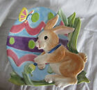 Fitz & and Floyd Easter Painting Eggs Canape Plate Bunny NEW in BOX