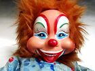 Rushton Toy Company, Plush Doll Stuffed Animal, Laughing Clown 50s, rubber face