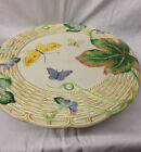 FITZ & FLOYD OLD WORLD RABBITS FOOTED CAKE PLATE 13 1/2