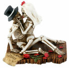 LOVE NEVER DIES SKELETON HALLOWEEN WEDDING CAKE TOPPERBRIDE GROOM FIGURINENEW