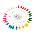 30x Flower Heart Leaf Head Pins Sewing Corsage Straight Dressmaking Mix Colors