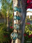 26 String Glass 6 BLUE Buoy Float Nautical Ball Curio Bouys Roped Tiki Japanese