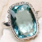 6CT Aquamarine 925 Solid Sterling Silver  Ring Sz 7, SS1-8