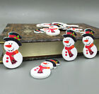 Mr Snowman Wooden Buttons Fit Sewing crafts scrapbooking Christmas 36mm