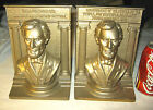 ANTIQUE HUGE 17 LBS. BRADLEY HUBBARD CIVIL WAR LINCOLN CAST IRON STATUE BOOKENDS