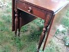 Beautiful Antique Drop Leaf Gate Leg Table w 2 Drawers Decorative Wood