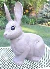 Vintage LAWNWARE Realistic Brown Bunny Rabbit Blowmold Blow Mold Yard Ornament A