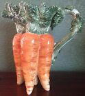 FITZ AND FLOYD CLASSIC LE MARCHE CARROT PITCHER - 3 SMALL CHIPS IN ONE AREA